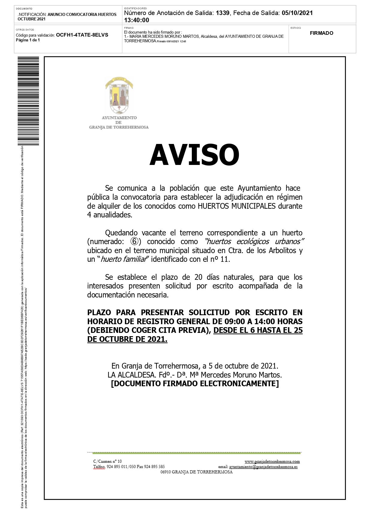 HUERTOS MUNICIPALES